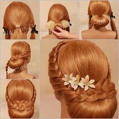 A beautiful hair style