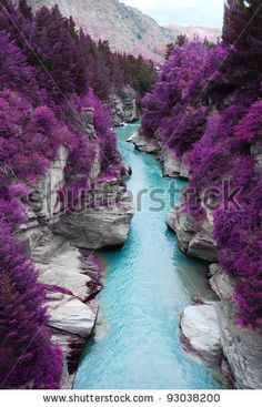 Kawarau river Queenstown, New Zealand by Shutterstock photographer aodaodaodaod.