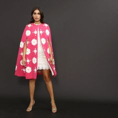 now on eboutic.ch - pink sleeveless cape for women Capes For Women, Famous Brands, Sexy Outfits, Feminine, Glamour, Elegant, Unique, Skirts, Pink