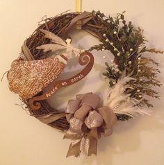 Peace on Earth Holiday Wreath