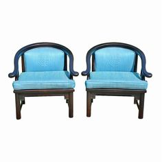 Mid-Century Ming Style Chairs, Pair, c. 1960