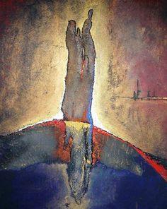 Surfacing, schilderij van Stefan Damman   Abstract   Modern   Kunst