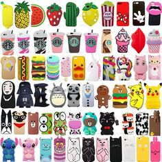 For Iphone 6/6S 6Plus/6Splus Cute 3D Cartoon Soft Silicone Phone Case Cover Back