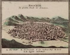Old Illustrations of cities with Armenian populations by Johann Baptist Homann (1663-1724)