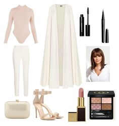 """""""London 3"""" by gennijan on Polyvore featuring La Mania, Roland Mouret, Beauty Secrets, Gianvito Rossi, Marc Jacobs, Bobbi Brown Cosmetics, Serpui, Gucci, women's clothing and women"""