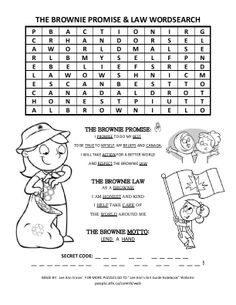 CLICK FOR PDF BROWNIES PROMISE & LAW WORDSEACH
