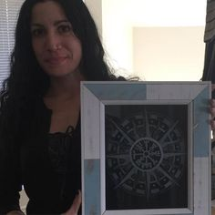 Thank you SO much @lily_marlain for this absolutely stunning Vegvisir etched in glass!!! I was so surprised when I checked the mail today to see your beautiful gift you are so sweet!!  - thewickedgriffin.com