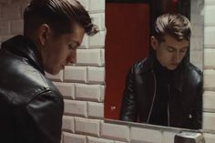 Alex Turner of Arctic Monkeys in the official video for Why'd You Only Call Me…