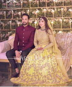 Bridal Mehndi Dresses, Mehendi Outfits, Pakistani Wedding Dresses, Pakistani Dress Design, Indian Dresses, Mayon Dresses, Silk Kurti Designs, Desi Wedding, Wedding Ties