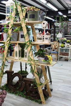 Ladder Decor, House, Furniture, Home Decor, Handmade Home Decor, Gardens, Decoration Home, Home, Room Decor