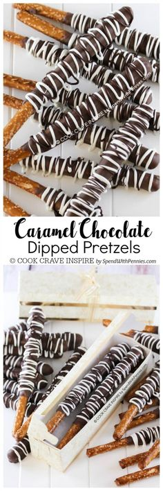 This Caramel Chocolate Covered Pretzels recipe is the perfect homemade Christmas gift for anyone on your list! They're easy to make and pretty! Get creative with sprinkles, nuts, coconut or toffee bits. These are perfect for any occasion including baby sh Chocolate Covered Pretzels Recipe, Chocolate Caramels, Homemade Chocolate, Carmel Chocolate Pretzels, Carmel Fudge, Caramel Candy, Chocolate Gifts, Chocolate Truffles, Chocolate Brownies