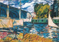 Maurice de Vlaminck (French, 1876-1958), The Chatou Bridge, 1906-07. Oil on canvas, 68 x 96 cm.
