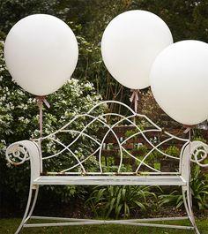 Riesige Ballons - weiß - 3 Stück | Weiß | Farbwelten | My Bridal Shower
