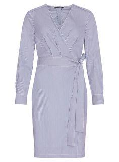 pietro filipi - Dámské šaty - DK6808116NBA, 4490,- Blue Stripes, Wrap Dress, White Dress, Trousers, Long Sleeve, Fitness, Fabric, Sleeves, Cotton