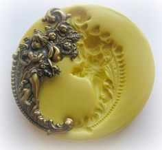 Cherub Victorian Mold Gothic Jewelry DIY Resin Clay Moulds. $7.95, via Etsy.