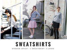 En basis-sweatshirt kan virkelig ændre udtryk afhængigt af din styling. I Sysiden 27 (marts-april 2018) kan du bl.a. læse en artikel om hvordan du kan style din sweatshirt, så du kan bruge den til rigtig meget! Marts, Leather Skirt, Sweater, Sweatshirts, Fashion, Moda, Leather Skirts, Jumper, Fashion Styles