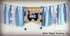 TRAIN Birthday High Chair Highchair Birthday Banner Party Photo Prop Bunting Backdrop Cake Smash First One Little Blue Vintage Custom Fabric