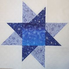 I started collecting blue fabrics with stars for my Millennium quilt in but the pattern and blocks were misplaced (yes, in my 'stash. Star Blocks, Quilt Blocks, Cher, Blue Fabric, Paper Piecing, Hamilton, Quilting, Stitch, Blanket