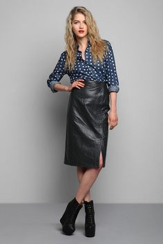 Vintage '80s Side Snap Pencil Skirt #urbanoutfitters #vintage