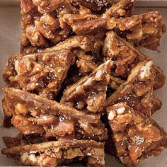 Salted Caramel-Pecan Bars Recipe - favorite cookies from last Christmas, and so easy.