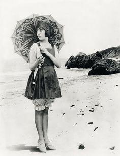Actress Lila Lee at the beach