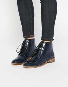ASOS ARTIST Leather Brogue Lace Up Boots at asos.com. RichelieuSoulierBottines  En CuirBottines FemmeChaussureMode ... ed767a8f378f