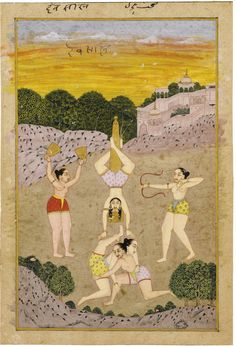 Miniature indienne : Desakhya Ragini, Inde, Rajasthan, XVIIIème siècle Deskhya…