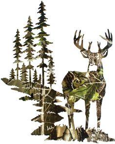 Camo Deer Wall Art Realtree Camo  www.rusticeditions.com