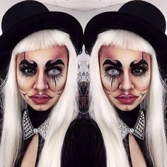 Off to the Circus! This makeup is awesome.