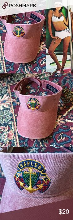 80s Naples Visor Vintage 80s Naples, Florida Visor! In perfect condition. Super cute & perfect for summer! Feel free to ask any questions! Open to reasonable offers :)  🔴15% OFF 2+ BUNDLES🔴 Vintage Accessories Hats