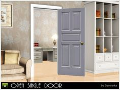 Opened single door by Severinka - Sims 3 Downloads CC Caboodle