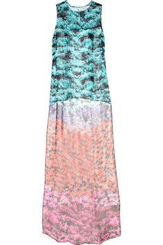 Mary Katrantzou|Printed silk-chiffon top|NET-A-PORTER.COM
