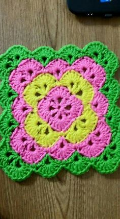 Pink and Purple Crochet Baby Blanket, Pink Crib Bedding, Baby Nursery Decor, Pink and Purple Nursery Decor, Purple Baby Bedding Scrap Yarn Crochet, Crochet Hot Pads, Crochet Blocks, Free Crochet, Crochet Baby, Crochet Flower Squares, Crochet Square Blanket, Granny Square Crochet Pattern, Crochet Motif Patterns