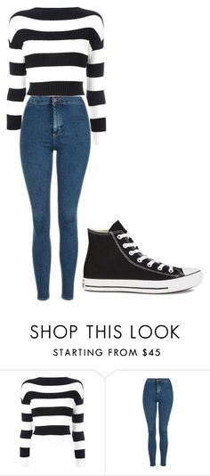 """Untitled #211"" by cruciangyul on Polyvore featuring Boutique Moschino, Topshop and Converse"