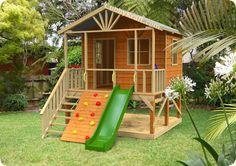 YAY Building is under way....Kookaburra Deluxe Cubby.... Great compact design