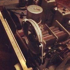 Inside of old Murphys lamp radio