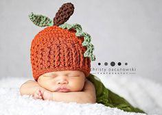 Crochet Pumpkin Hat / Newborn Pumpkin Hat / Baby Pumpkin / Photography Props Perfect for Fall Photos / Pumpkin Hat size Newborn on Etsy, $18.00