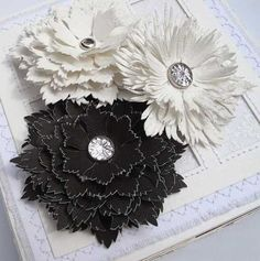 black and white leather flowers - Recycling Leather Scraps