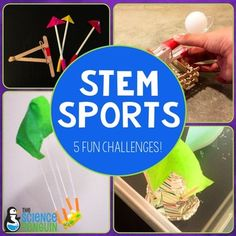 STEM Sports from The Science PenguinSTEM Sports is perfect for Back to School team building! Science, engineering, and math are part of these sports-themed team challenges.Because there are 3-4 recording sheet options for each activity, this pack is great for 3rd, 4th, 5th, and 6th grade students!