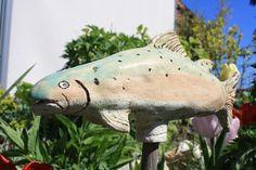 Gartenfiguren - Forelle Keramik - ein Designerstück von Konform-art bei DaWanda