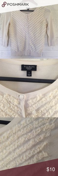 ❤️SALE❤️Talbots sweater  -LIKE NEW LIKE NEW❤️BEAUTIFUL SWEATER- I got it from another posher but it was a bit to short on me! It is a talbots P - would also fit regular xs or XXS- ALL bundles 20% off all items are steamed before shipping Talbots Sweaters Cardigans