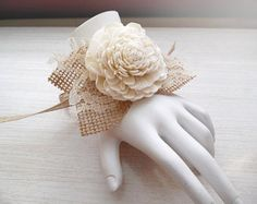 Wrist Corsage and/or Boutonniere Sola Flowers Birch by PapernLace