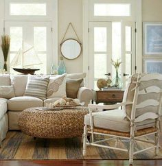 Birch Lane Catalog Bliss Shop This Room Stylish Rustic Living In Beige That Evokes Images Of Beach Dunes With Sea Oats Swaying