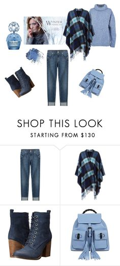 """♥"" by macopa on Polyvore featuring mode, Marc Jacobs, 7 For All Mankind, P.A.R.O.S.H., Steve Madden et Gucci"