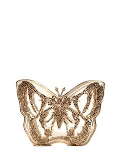 VALENTINO - JEWEL PLEXIGLASS BUTTERFLY CLUTCH - LUISAVIAROMA - LUXURY SHOPPING WORLDWIDE SHIPPING - FLORENCE