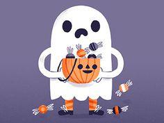 Illustration, lettering and design by Brooklyn-based illustrator Alyssa Nassner. Halloween Doodle, Halloween Drawings, Halloween Images, Halloween Items, Halloween Ghosts, Cute Halloween, Holidays Halloween, Vintage Halloween, Halloween Crafts
