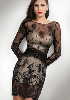 Magníficos vestidos de fiesta con encaje | Vestidos de noche elegante