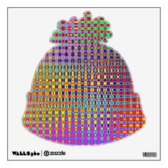 Psychedelia Beanie Wall Decal