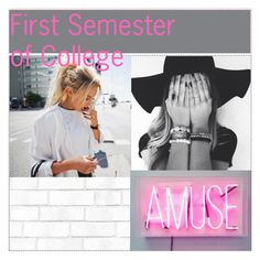 """First Semester of College"" by emily25921 ❤ liked on Polyvore featuring art"