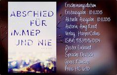 """Leserattes Bücherwelt: [Rezension] """"Abschied für immer und nie """" Amy Reed..."""